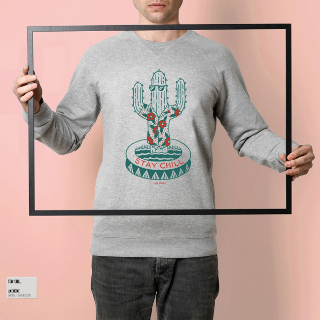 Stay chill - Stepart man Sweatshirt created by Luke Lieske