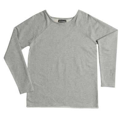 Heather Grey - Stepart basic line Sweatshirt for women