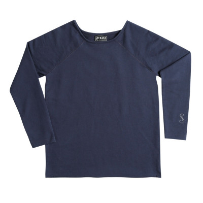 Dark Blue - Stepart basic line Sweatshirt for women