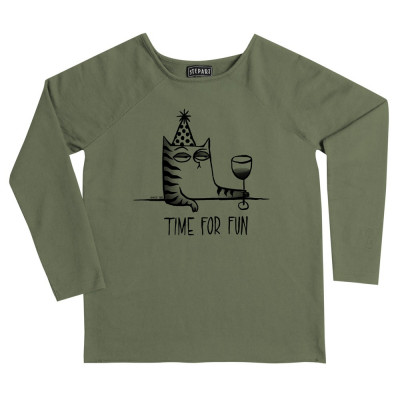 Time For Fun - Stepart woman Sweatshirt created by Ophelie Taki