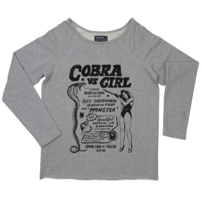 Cobra VS Girl - Woman Sweatshirt by Local Kaffee - Stepart